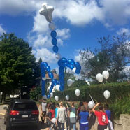 Balloon Rosary Walk